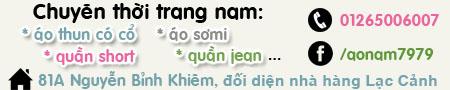 Chuyên thời trang nam - 81A Nguyễn Bỉnh Khiêm Nha Trang